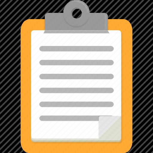 clipboard, document, list icon