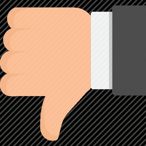 dislike, down, downvote, thumbs, thumbs down, vote icon