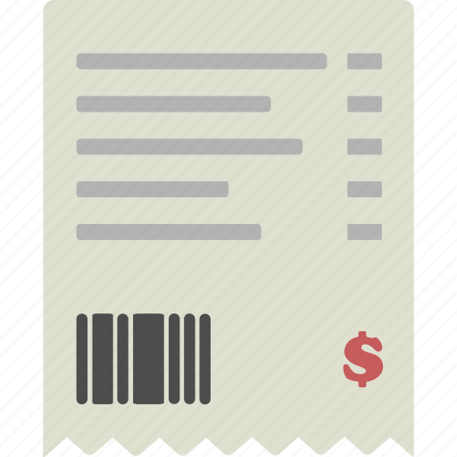 invoice, receipt, sale icon