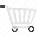 cart, shopping, shopping cart, store, trolley icon