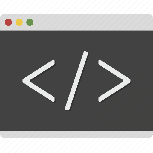browser, code, css, developer, web, window icon