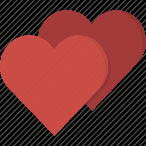hearts, love, valentine icon