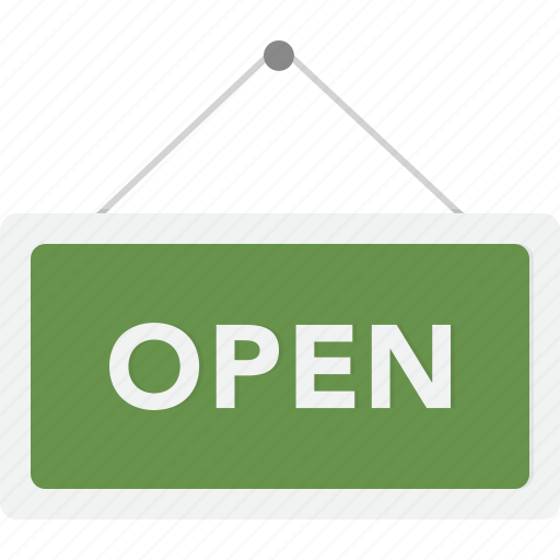 ecommerce, open, shop, sign, store icon