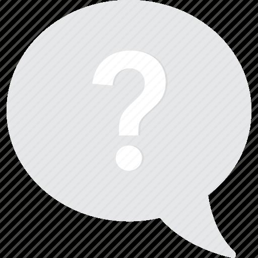 bubble, chat, conversation, question, speech icon