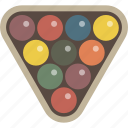 billiards, pool, rack, triangle icon