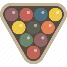 billiards, pool, rack, triangle icon