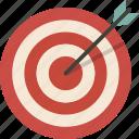 archery, bullseye, target icon
