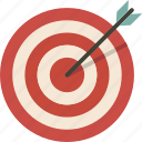 aim, archery, bullseye, goal, target icon