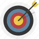 aim, archery, bullseye, goal, target, arrow, focus
