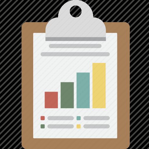 bar, bar graph, business, clipboard, graph, memo, note, seo icon