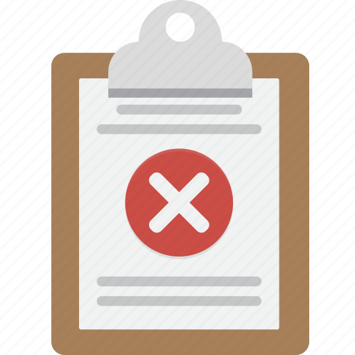 Clipboard, denied, no, note, red x icon - Download on Iconfinder