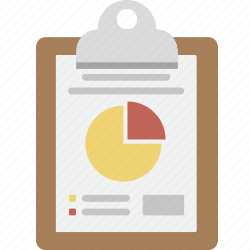 business, chart, clipboard, note, pie, pie chart, seo icon