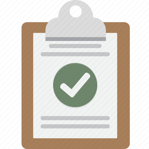 approved, check, clipboard, note, yes icon
