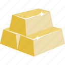 bar, bars, gold, gold bars icon