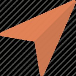 arrow, gps icon