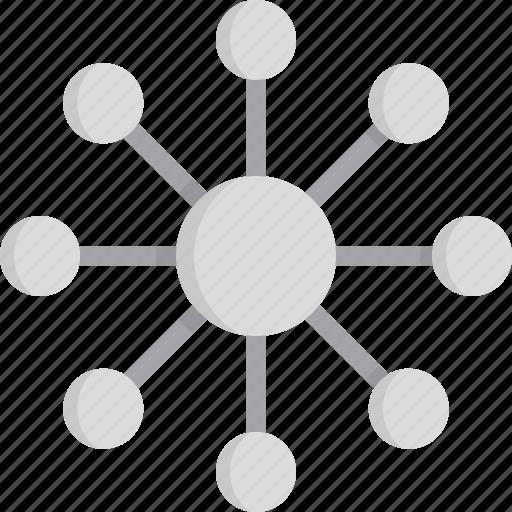communications, hub, network icon