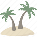 tropical, island, palm, tree
