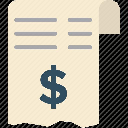 checkout, invoice, receipt, total icon