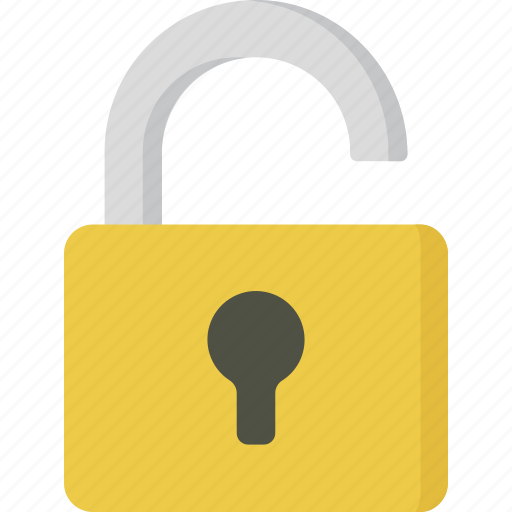 padlock, security, unlock, unlocked icon