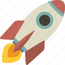launch, mission, rocket, startup icon