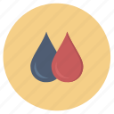 change, color, drop icon