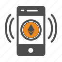 app, bitcoin, bitcoins, ethereum, mobile icon