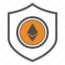 bitcoin, bitcoins, ethereum, safe, secure, security icon