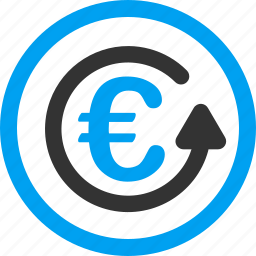 chargeback, euro, money back, refund, restore, return, revert transaction icon