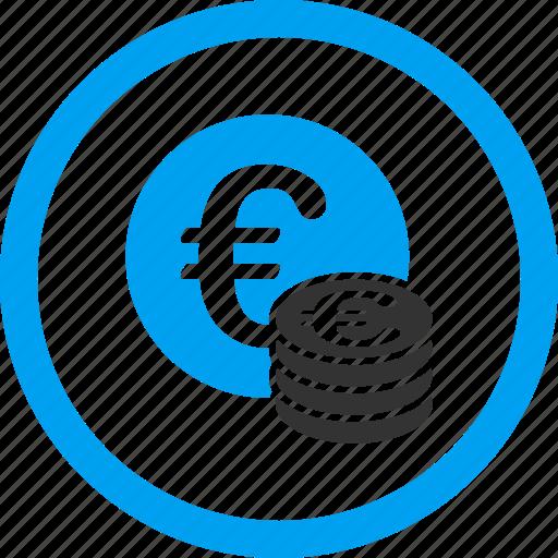 bank, cash, coins, euro coin, finance, money, stack icon