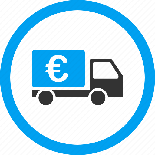 auto, automobile, cash transport, collector car, euro, transportation, vehicle icon
