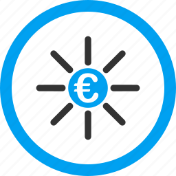 bank system, business, euro, finance, links, money distribution, payouts icon