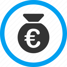 bank, cash, euro, finance, fund, money bag, payment icon