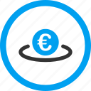 banking, business, currency, euro, finance, financial, placement icon