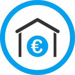 bank building, company, construction, euro, house, storage, structure icon
