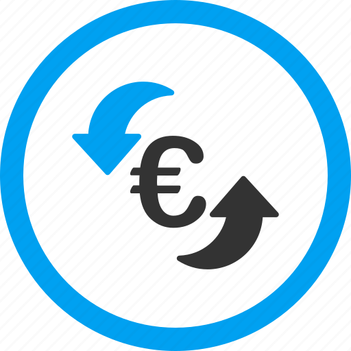 euro, money, refresh balance, repeat, rotation arrows, sync, update icon