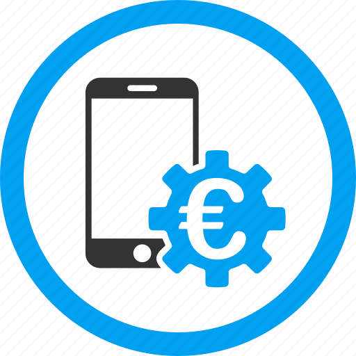 business, configure, euro bank, finance, mobile banking, phone, settings icon