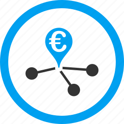 bank branches, banking, euro, financial transactions, links, payments, payouts icon
