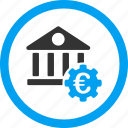 bank settings, euro, finance, financial tools, industrial business, money, options icon