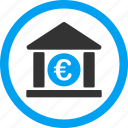 business center, commerce, corporation, euro bank, european, finance, financial company icon