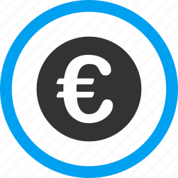 bank, business, cash, euro coin, finance, money, payment icon
