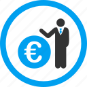banker, businessman, capitalist, collector, economist, euro, financial manager