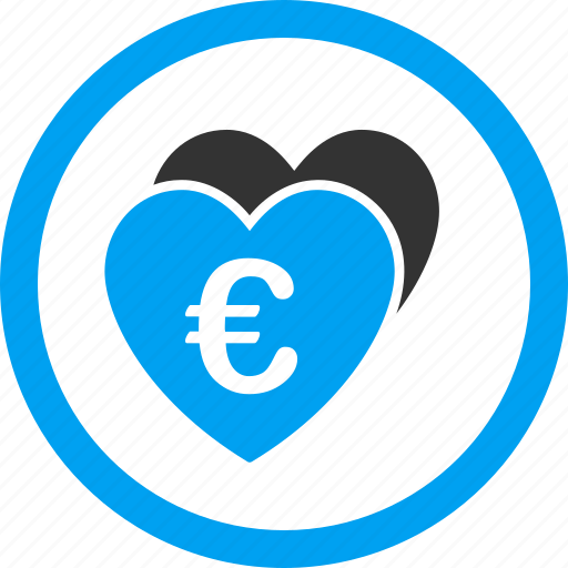 euro, favorite, favorites, hearts, like, love, valentine icon
