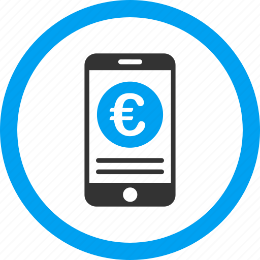 account, euro, finance, iphone, mobile banking, payment, telephone icon