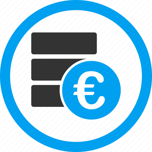 data server, database, euro, finance, financial, money, storage icon