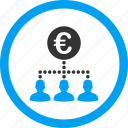 cashout, clients, euro money, finance, financial, payment, staff salary icon