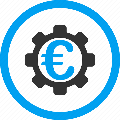 configuration, euro, gear, machinery, options, payment clients, system tools icon