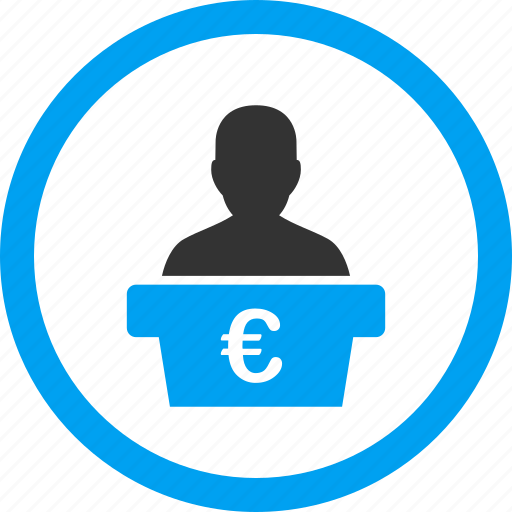 euro, government, manager, politician leader, presentation, speaker, teacher icon