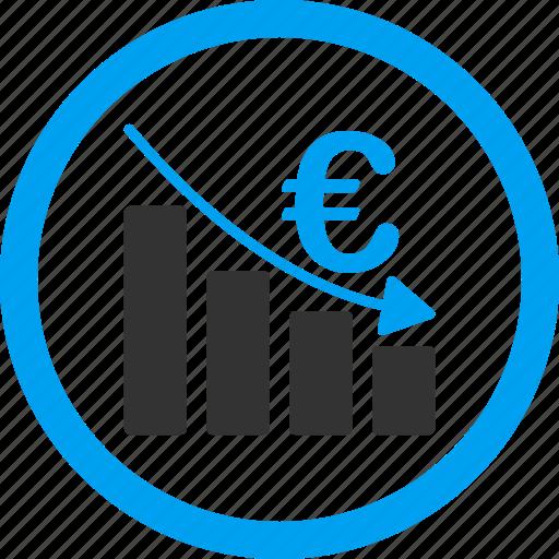 bankruptcy, depression, down, epic fail, euro crisis, failure, recession icon