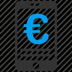 account, balance, bank, euro, european, mobile, money icon