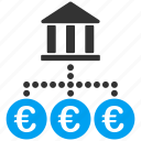 bank, euro, european, links, network, tax, transactions icon